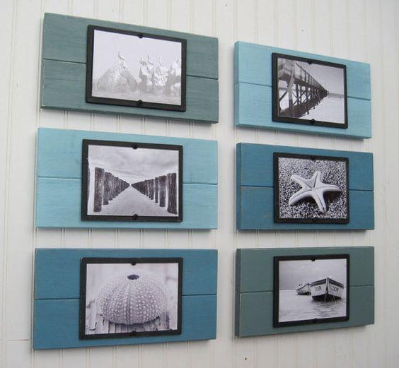 Planks frames and diy wall art on pinterest for 5x7 bathroom design ideas