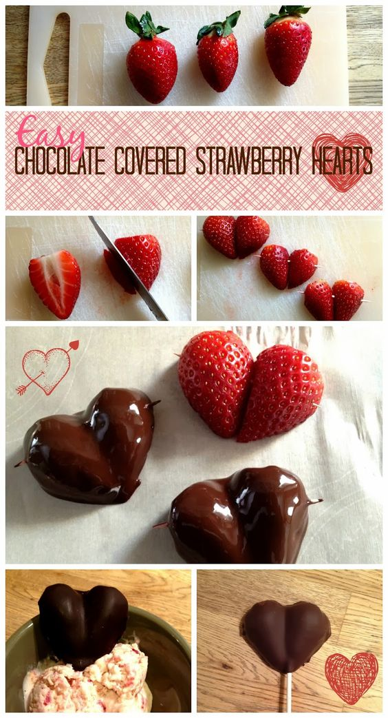 . You Pinspire Me .: Easy Chocolate Strawberry Hearts: