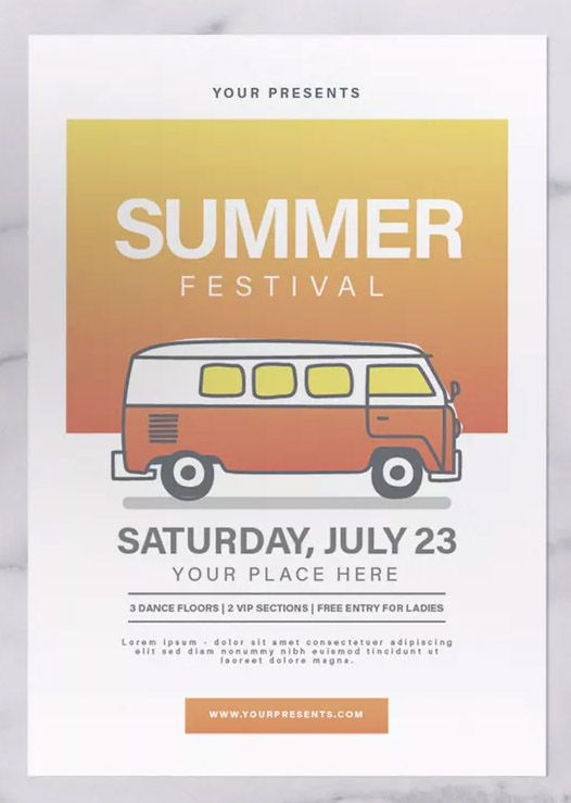 Summer Festival Flyer Template Psd Ai Download With Images