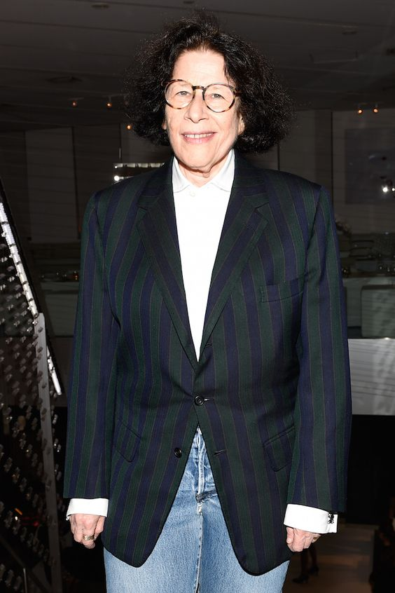 Fran Lebowitz arrives at the dinner #NYFW