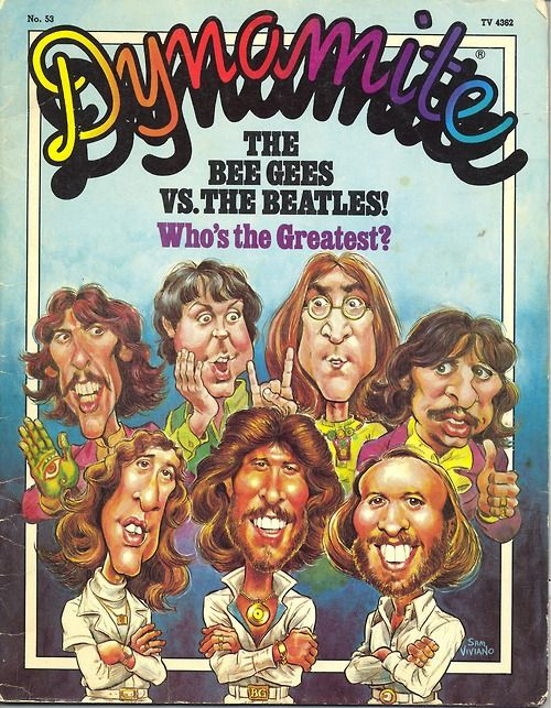 1978 issue 53 Dynamite Magazine the Bee Gees vs the Beatles