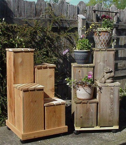 4 tier plant stand needs some finish work woodwork to do pinterest pallet wood diy and. Black Bedroom Furniture Sets. Home Design Ideas