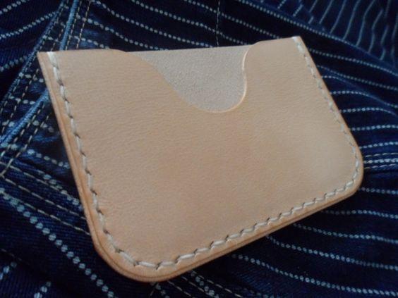 Leather card holder (FREE UK SHIPPING) by SleepingDogsLeather on Etsy