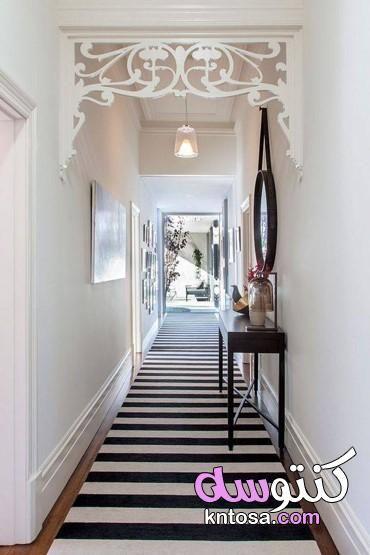ديكور الطرقة فى الشقة استغلال الممرات في المنزل اضاءة الممرات الداخلية ديكور ممر ضيق2020 Kntosa Co Narrow Hallway Decorating Hallway Designs Hallway Decorating