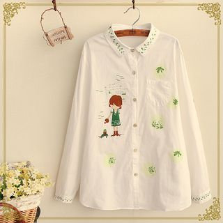 Buy Fairyland Girl Print Shirt at YesStyle.com! Quality products at remarkable prices. FREE WORLDWIDE SHIPPING on orders over US$35.