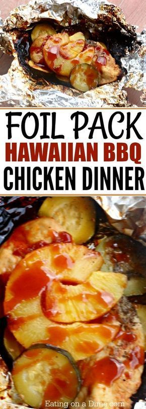 Foil Packet Hawaiian BBQ Chicken Recipe