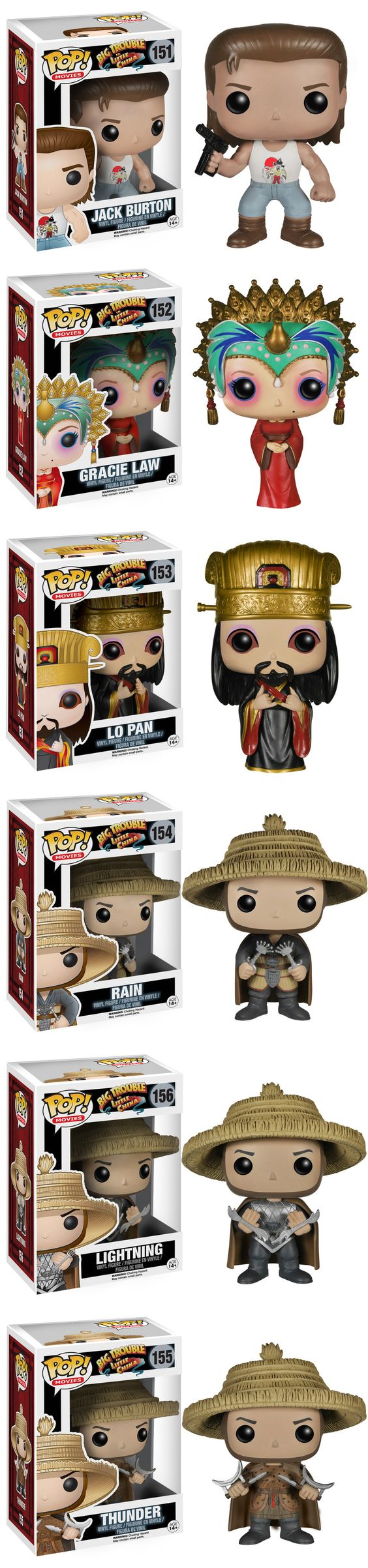 """BIG TROUBLE IN LITTLE CHINA Funko Pop! Figures """"I'm not saying that I've been everywhere and I've done everything, but I do know it's a pretty amazing planet we live on here…"""" Read More: http://geektyrant.com/news/big-trouble-in-little-china-funko-pop-figures"""