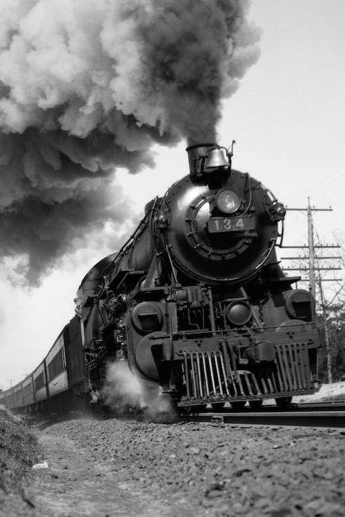 1920s 1930s Steam Engine Pulling Passenger Tr Vintage Images Icanvas Steam Trains Photography Steam Engine Train