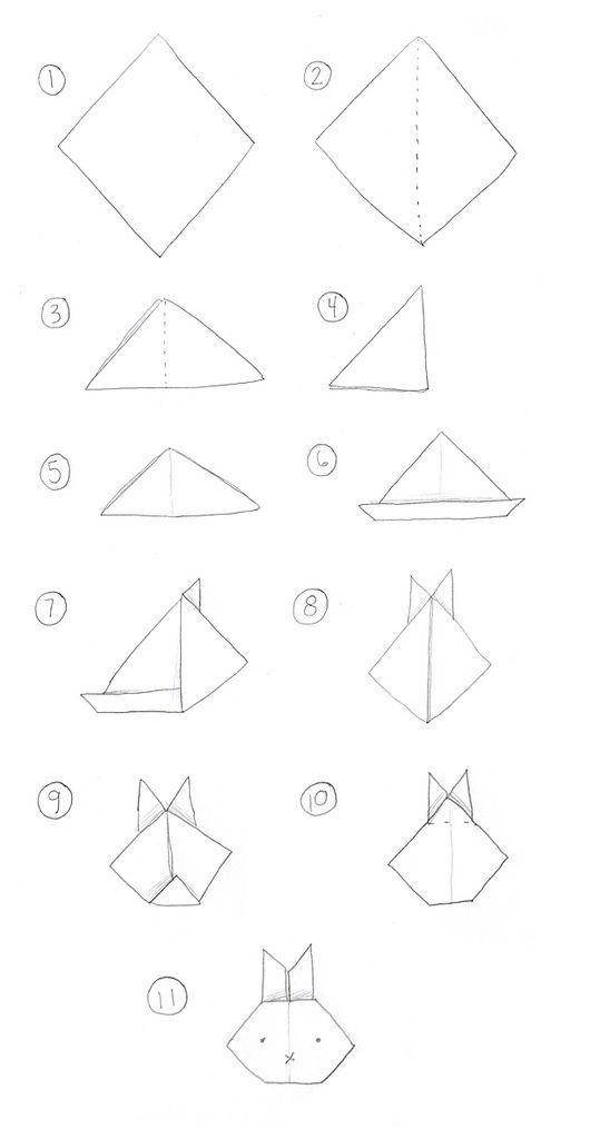 как сложить кролика оригами