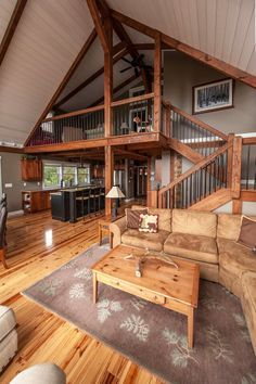 Prefab post and beam small house! Moose Ridge comes in at 1659 sq ft w/ 3 bedrooms, 2 baths. Visit to see more and get downloadable fl plans. #smallhouseplans