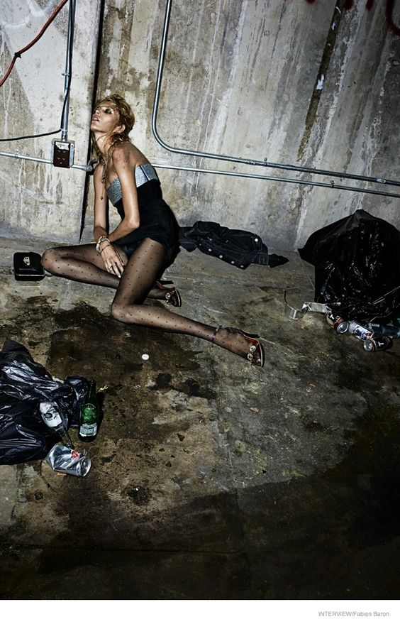 """Anja, Edita V, Daria, Andreea + Lily Get """"Pretty Wasted"""" for Interview Magazine:"""