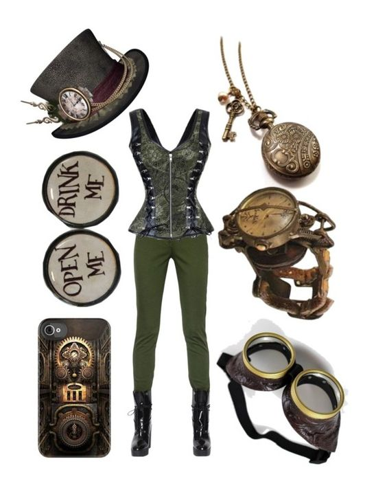 """steampunk - mad hatter"" by allisonmiller20020812 ❤ liked on Polyvore featuring Kenzo"