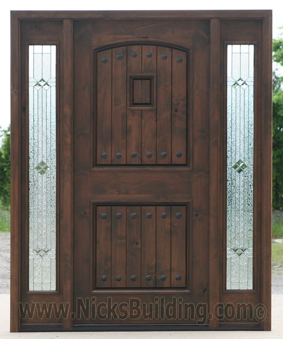 Black Walnut Wood Stain Color Knotty Alder Doors With