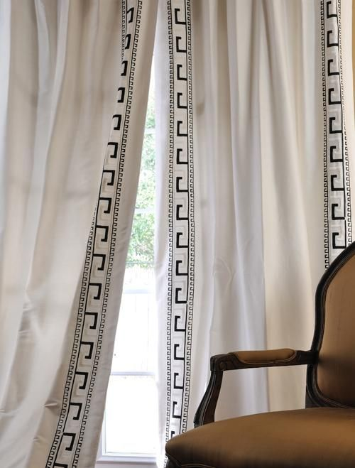 Greek Key Panel Curtains And Silk Curtains On Pinterest