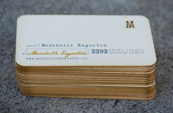 Meschelle Eagerton Business Cards by Chase Kettl