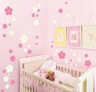 Search and google on pinterest for Decoracion pared bebes