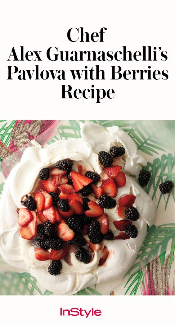 The pavlova's gorgeous presentation alone is worth a standing ovation. The sweet, delicate meringue creates a cloud on which a tumble of tart, seasonal berries perch. Click through to see the full delicious recipe.