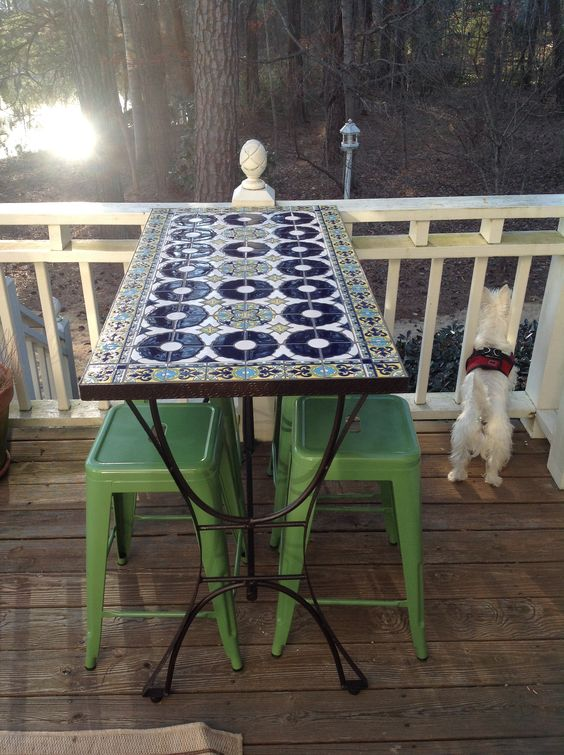 Mosaic Bar Height Patio Table From Pier 1