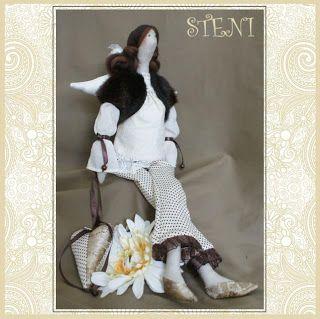 Mimin Dolls: tilda grávida, com moldes