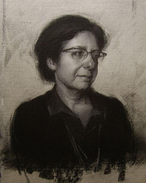 Stephen Bauman (charcoal and chalk on paper):
