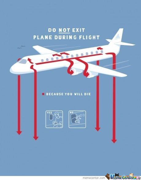 Do Not Exit Plane During Flight: