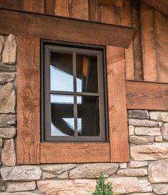rustic exterior window trim - Google Search