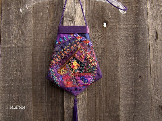 Purple Crazy Quilt Purse | Flickr - Photo Sharing!