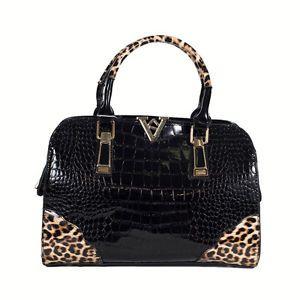 #Shopping #online #store #ebay  #Women #Shoulder/#Handbag #Bag. Made By #Faux #Leather.  #Design By #Vigor #Brands. #Black #Color With #Animal  #Print
