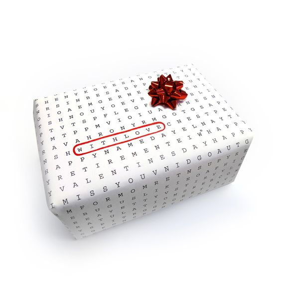 Great Idea for Wrapping Paper.