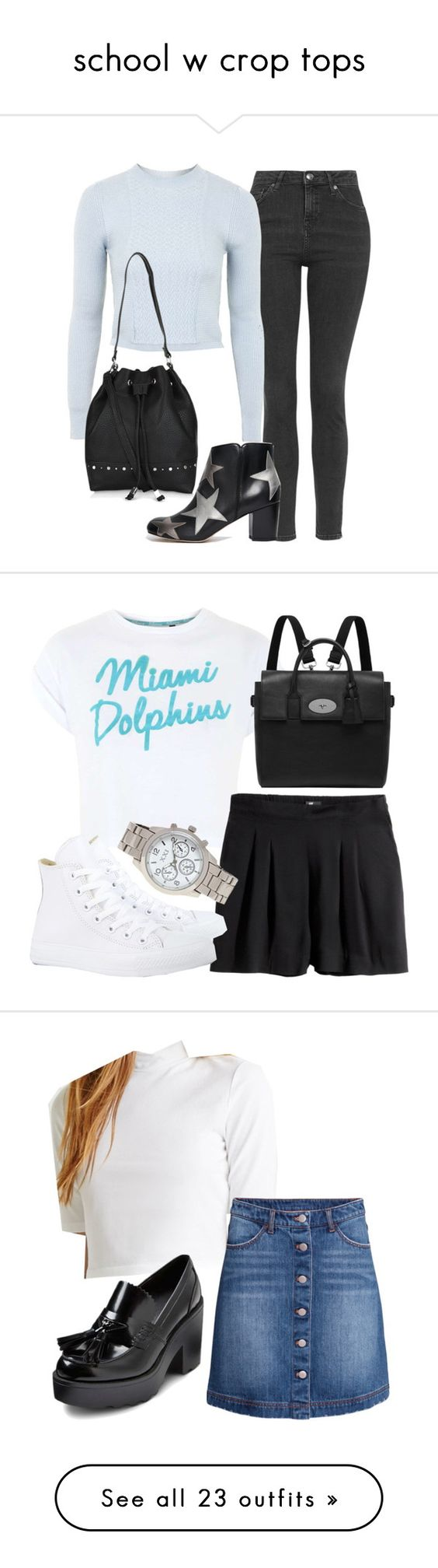 """school w crop tops"" by littlemixmakeup ❤ liked on Polyvore"