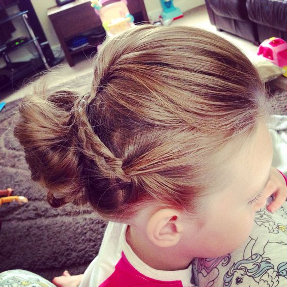 Pretty updo with volume for kids