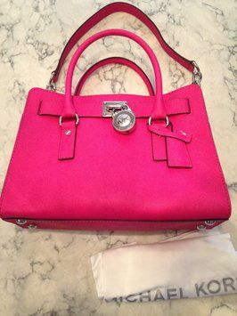 Michael Kors Nwt! Hamilton Saffiano Leather East West Handbag Pink Raspberry Satchel. Save 25% on the Michael Kors Nwt! Hamilton Saffiano Leather East West Handbag Pink Raspberry Satchel! This satchel is a top 10 member favorite on Tradesy. See how much you can save GORGEOUS!!! SALE TODAY!!! EXCELLENT GIFT!!!