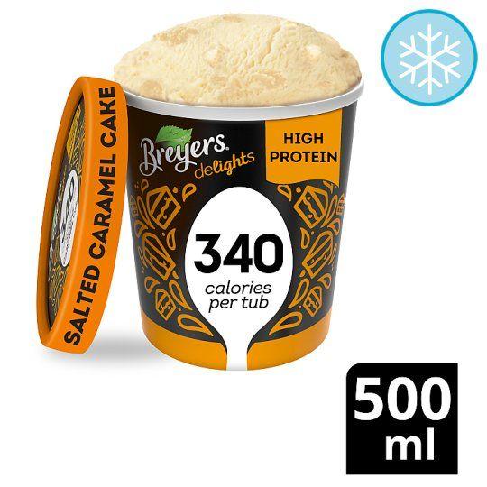 Breyers Salted Caramel Cake Low Calorie Ice Cream Low Calorie