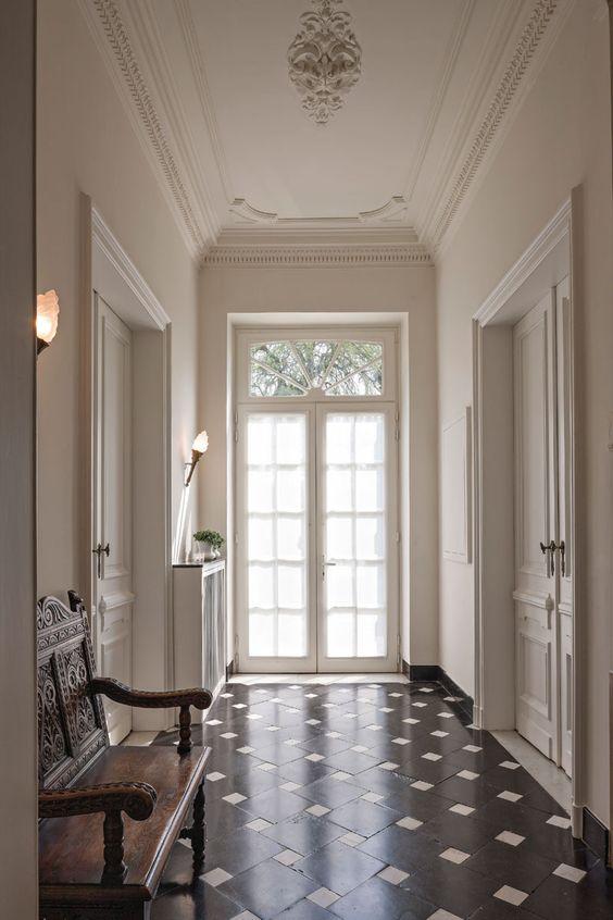 Flooring ~ Piedmont ~ Bluestone ~ White Marble Cabochons ...