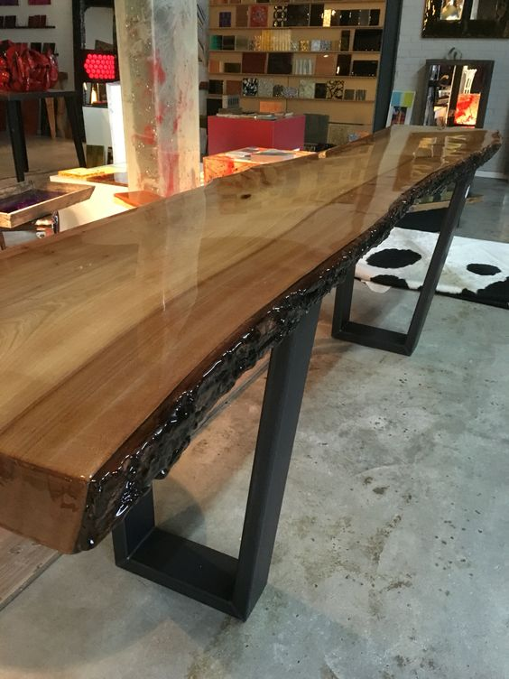 Epoxy Side Tables And Trees On Pinterest
