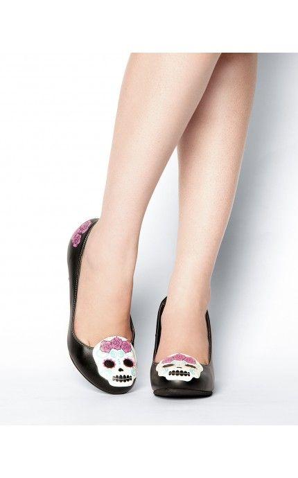 Pinup Girl Clothing- Dia de Los Muertos Heels | Pinup Girl Clothing
