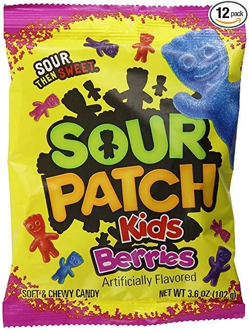 8 62 Sour Patch Kids Sweet And Sour Gummy Candy Berries 3 6 Ounce Pack Of 12 8 62 Or Less With Subscribe Sour Patch Watermelon Sour Patch Kids Sour Candy