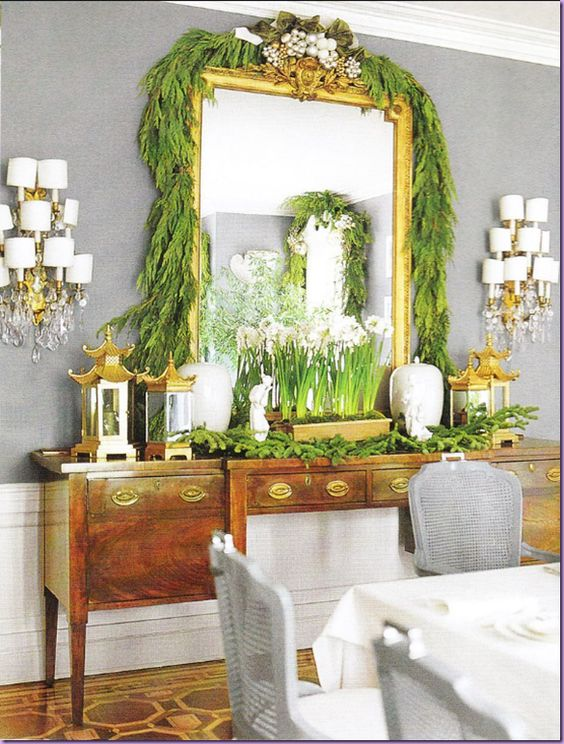 Mary mcdonald christmas dining room in veranda christmas pinterest stencils rustic and - Veranda dining rooms ...