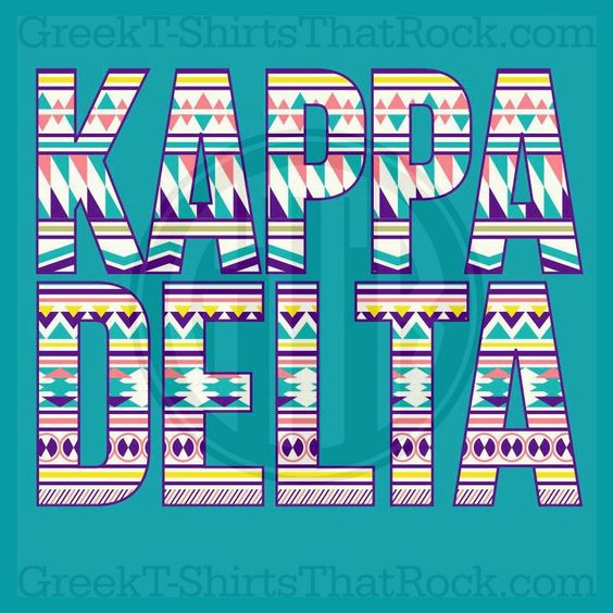 Greek Letters Purchase Kappa Delta Tribal Letters Buy Your Sorority Bid Day