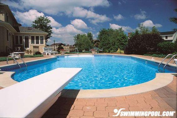 Vinyl Swimming Pool With Diving Board Swimmingpool Pool