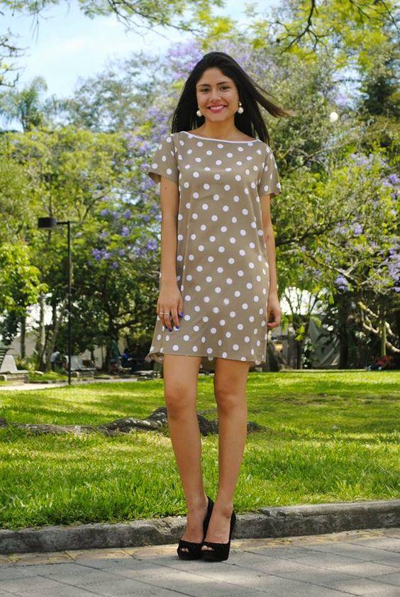 Elegante, minimalista e cheio de classe nosso vestido poá bege é uma graça! #ElizaAndrade