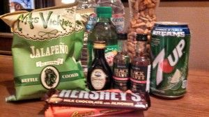 Mini-bar gift basket at @The Rush in Cripple Creek, #Colorado. @TheRushCasino