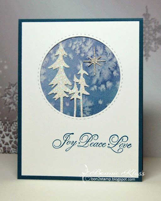 Salted Winter Trees Stamping With Klass Winter Trees Tree Stamp Tree