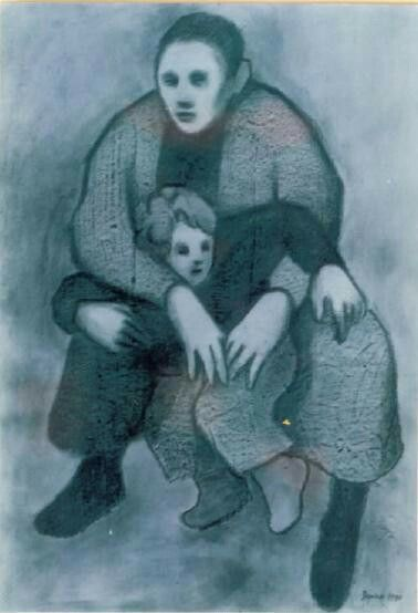 Encargo, refrán antiguo    Brasa trae en el seno la que cria hijo ageno. Denota el gran cuidado y zozobra  que trae consigo el encargarse de cosas agenas.       ANTONIO JIMÉNEZ   Marcos Davidson. Padre e hijo