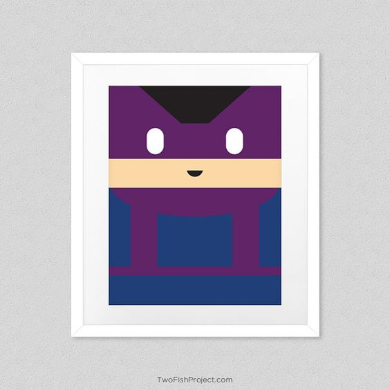 Hawkeye Poster for Kids Room Cute Minimalist by TwoFishProject