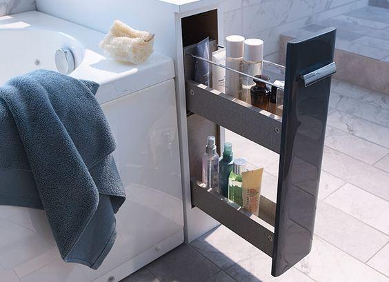 Rideau Salle De Bain Castorama : Castorama : Gagner de la place dans la salle de bains. Installer un …