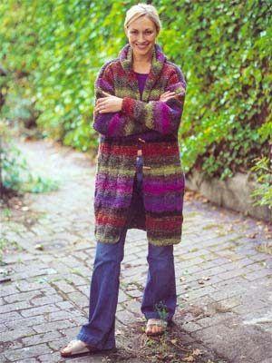 Debbie Bliss Noro SoW - Hooded Coat - FREE pattern