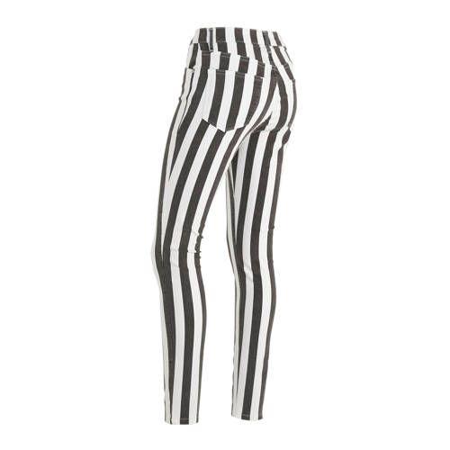 LTB gestreepte high waist skinny jeans Tanya X zwartwit in