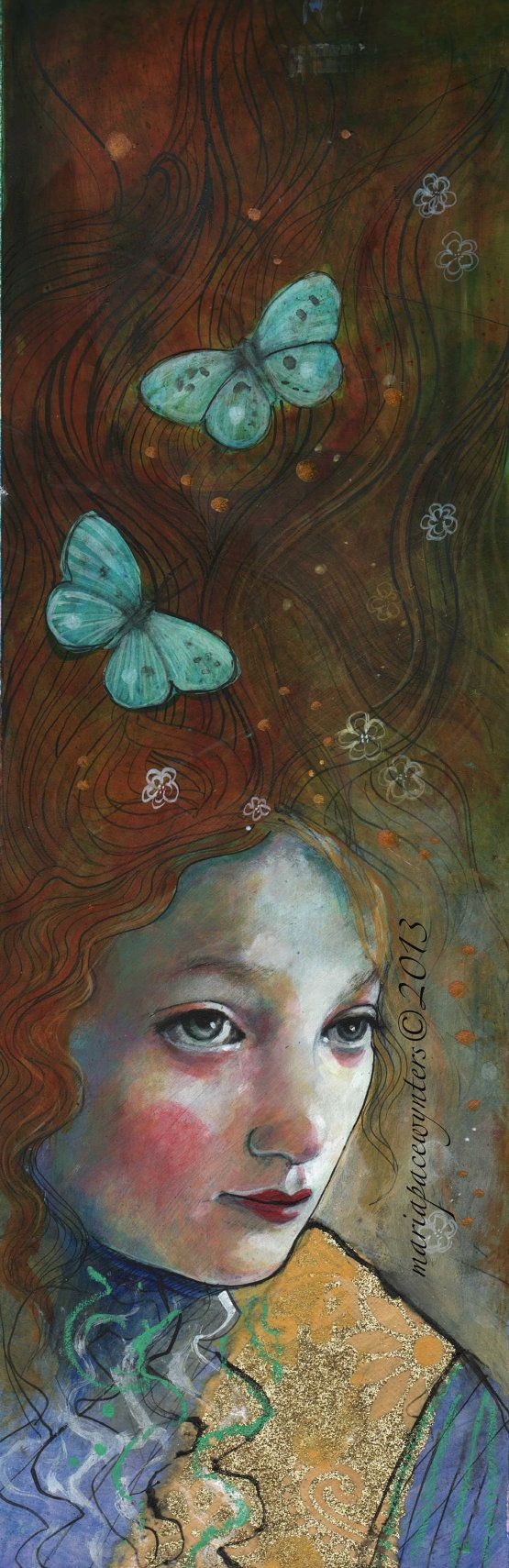 Dream Warrior Original mixed media painting by by MariaPaceWynters: