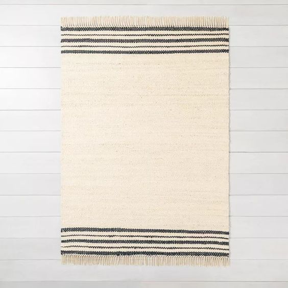 Jute Rug Charcoal Stripe - Hearth & Hand™ With Magnolia : Target